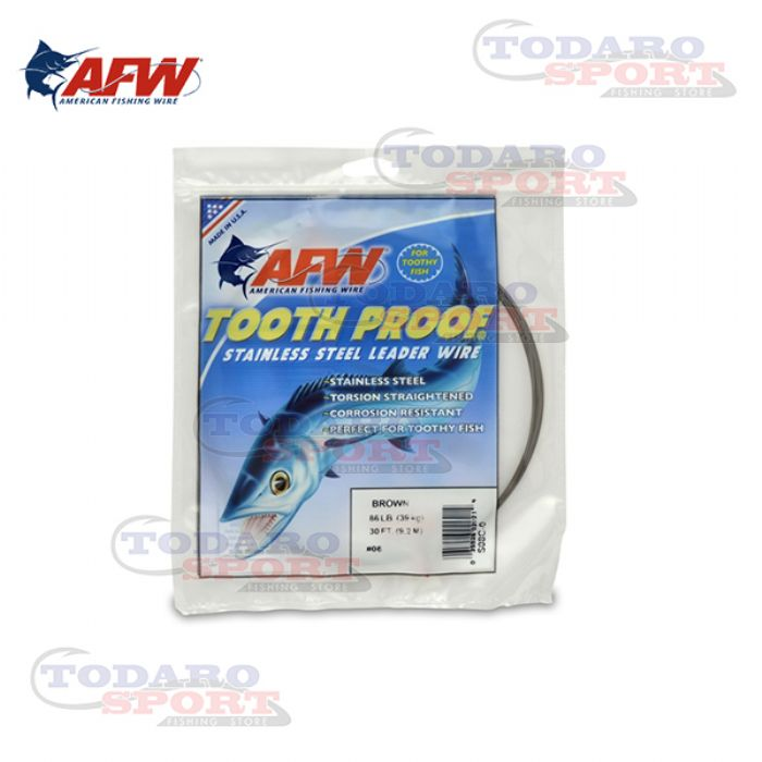 American fishing wire tooth proof