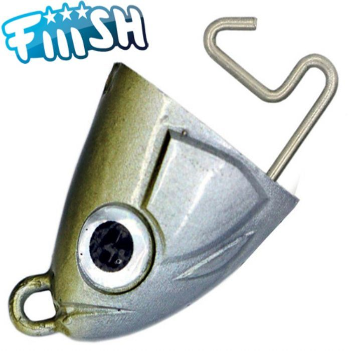 Fiiish jig head black minnow shore